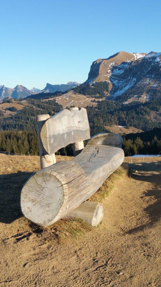 Gipfelbank am Nirement FR (Bild: © Renate Albrecher)