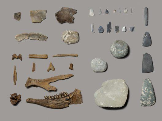 Die Fundstücke erzählen viel über das Alltagsleben im jungsteinzeitlichen Dorf.