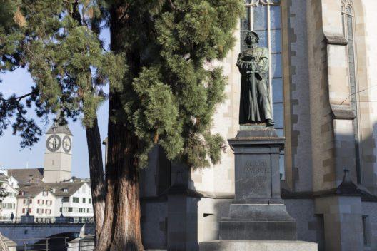 Zwingli Denkmahl, Zürich (Bild: KEYSTONE)