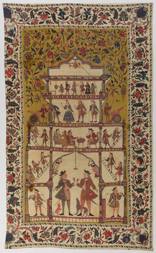 Wandbehang (Palampore) von der Koromandelküste, Indien, um 1700-1750 (Bild: Schweizerisches Nationalmuseum, ehem. Sammlung Petitcol)