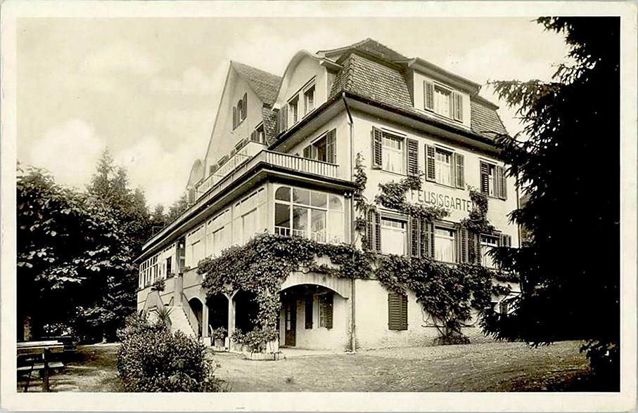 Neubau 1913, Ansichtskarte von 1941 (Quelle: IG Pro Feusisgarten)