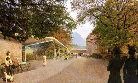 3-D Bild des Café Byron (Bild: © Schloss Chillon Stiftung)