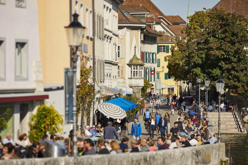 Solothurn, Landhausqaui (Bild: © Solothurn Tourismus, Tino Zurbrügg)