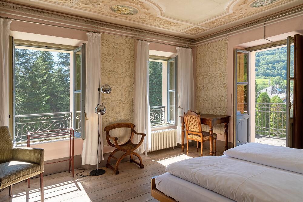 Casa Lucomagno, Olivone TI: Gelebte Kunst im Bleniotal (Bild: Noah Steiner, Schweizer Heimatschutz)