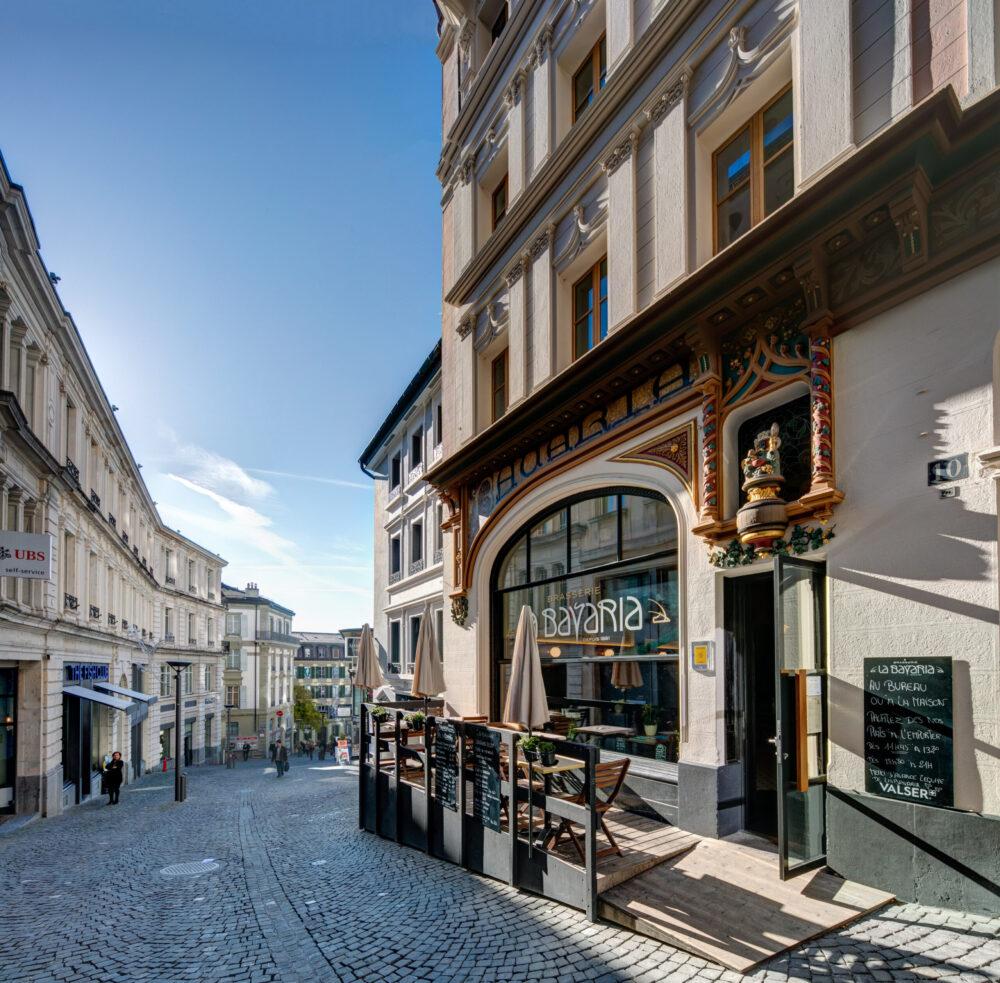 """Brasserie """"La Bavaria"""" in Lausanne, """"Historisches Restaurant des Jahres 2021"""" (Bild: obs/ICOMOS Suisse"""")"""