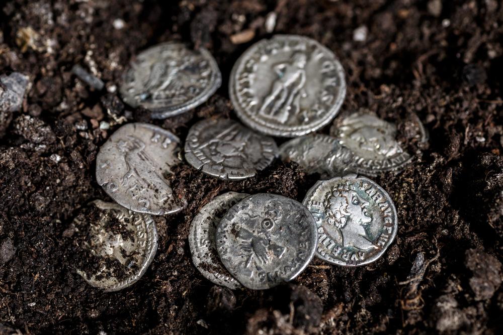 Antike römische Münzen gefunden