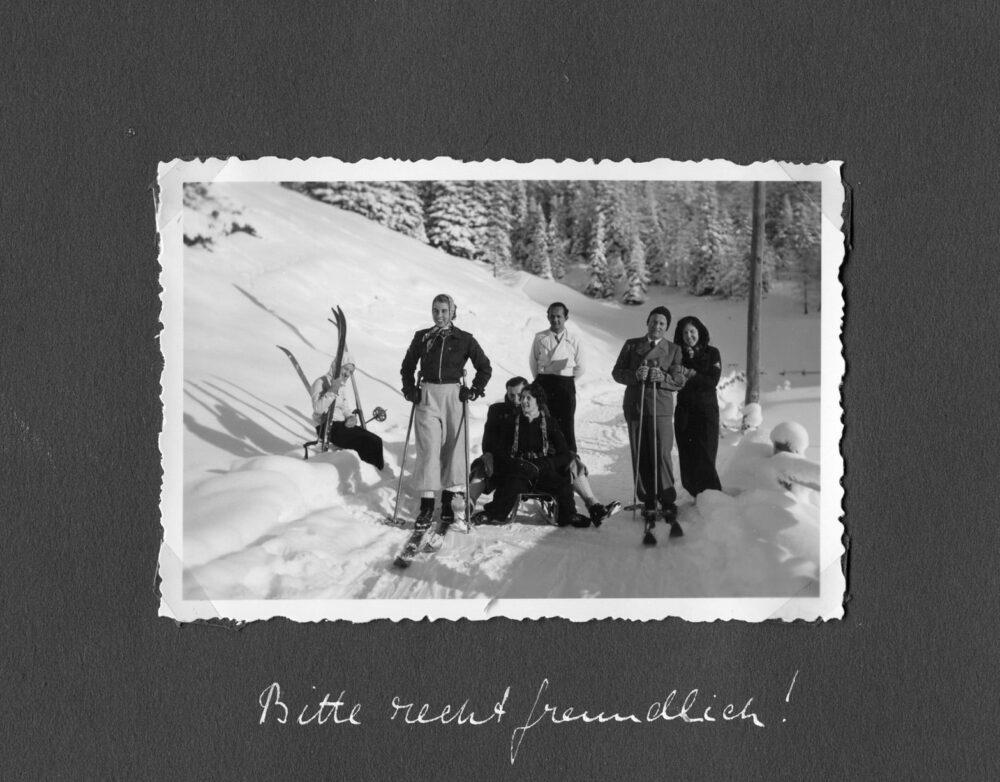 Skilager Preda. Zahlreiche Lehrer und Schüler aus dem Maihof verbrachten die Skiferien 1937 im Bündnerland. (Bild: Fotograf/in unbekannt)